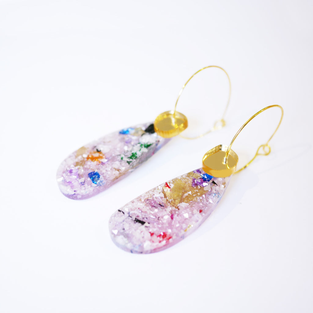 Super Sparkle Teardrop Earrings – Frosted Kaleidoscope