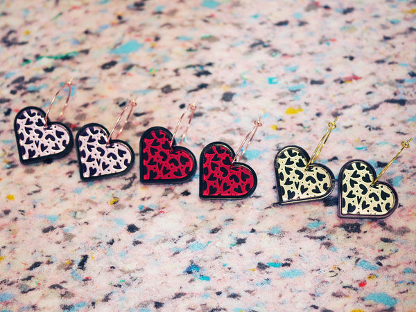 Mini Heart Drop Earrings