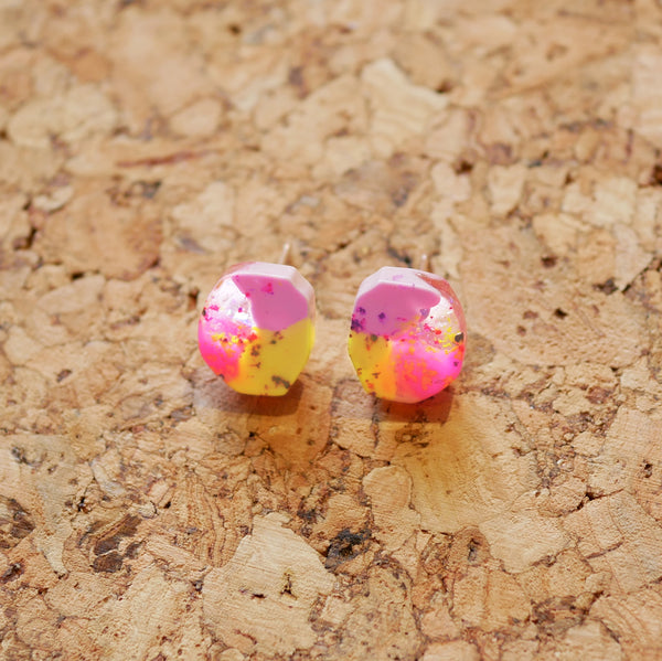 Holo-Magic Tiny Resin Stud Earrings