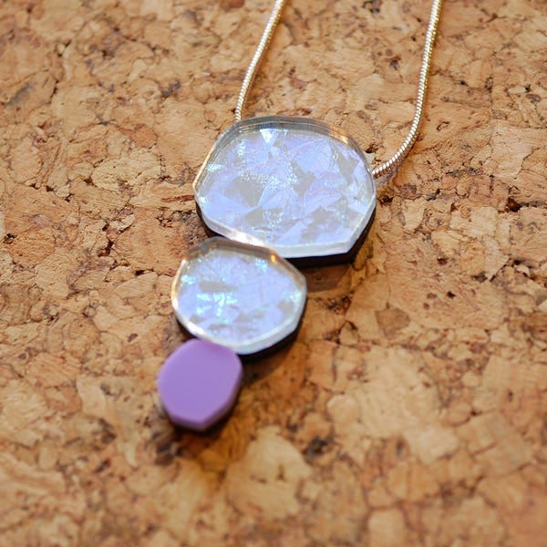 Holo-Magic Triple Treat Necklace – Pastel Lilac