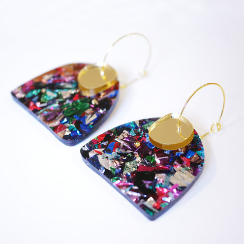 Super Sparkle Curve Earrings – Kaleidoscope