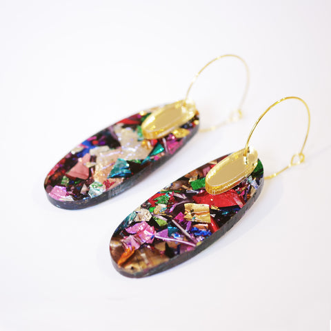 Super Sparkle Oval Earrings – Kaleidoscope