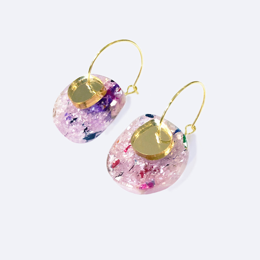 Super Sparkle Nugget Earrings – Frosted Kaleidoscope
