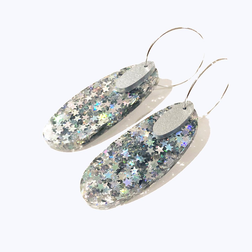 Super Sparkle Oval Earrings – Superstar