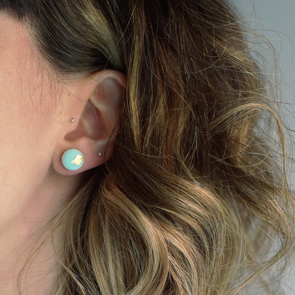 DREAM Dot Earrings/Pastel Green