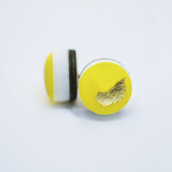 ART Dot Earrings/Yellow