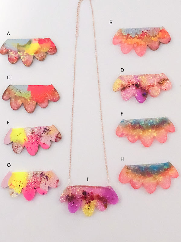 *SAMPLES* Large Petal Resin Necklace