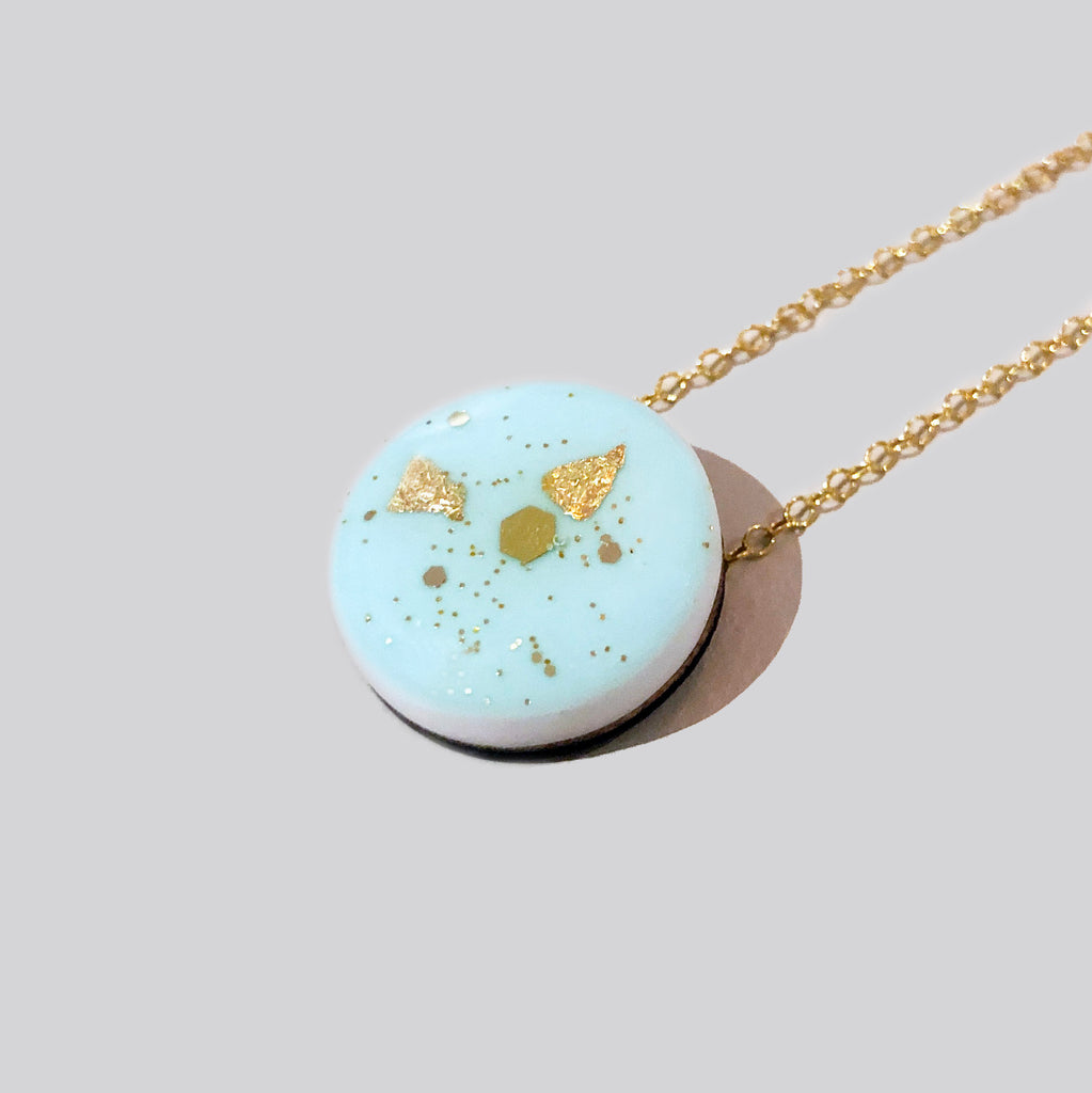 Scatter Dot Necklace – Pastel Green