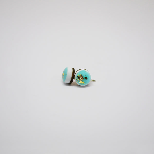 Scatter Dot Mini Earrings – Aqua
