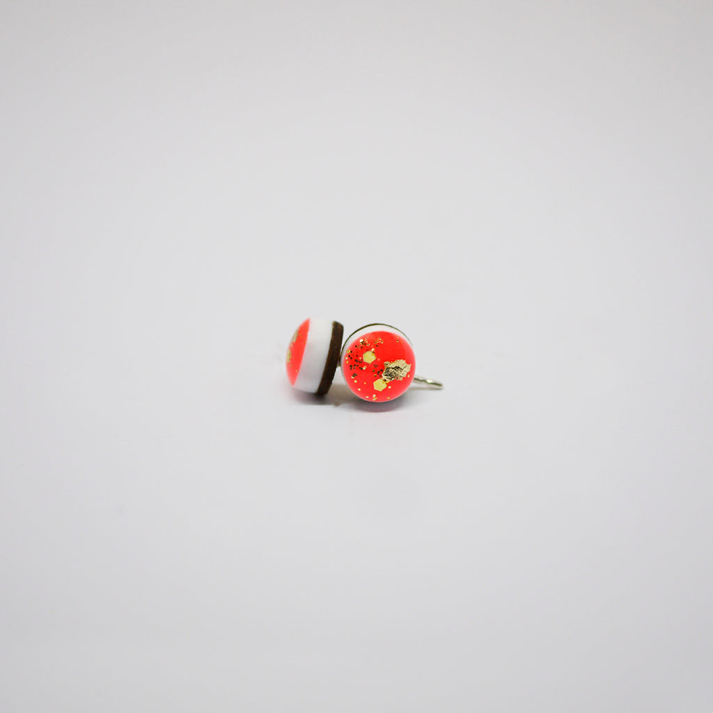 GLINT Tiny Scatter Earrings – Neon Red