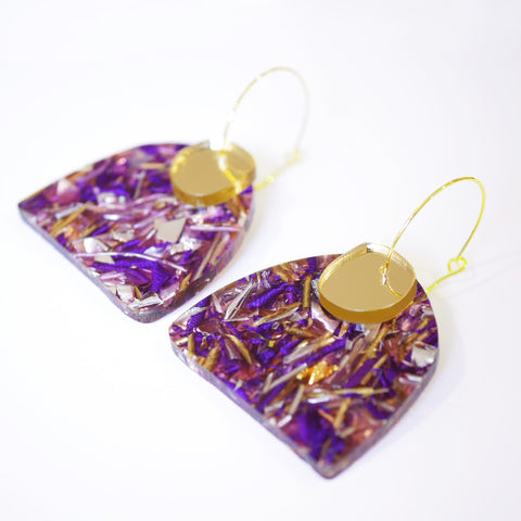 Super Sparkle Curve Earrings – Supernova