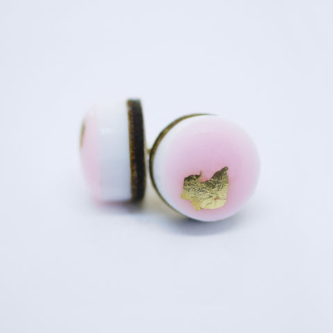 DREAM Dot Earrings/Pastel Pink