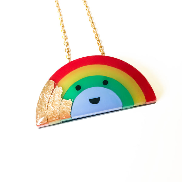 *SECONDS* Rocky the Rainbow Necklace