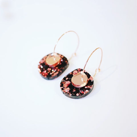 Super Sparkle Nugget Earrings – Chunky Rose Gold
