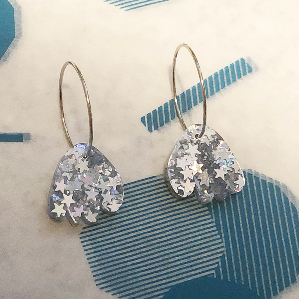 Super Sparkle Abstract Flower Earrings – Superstar