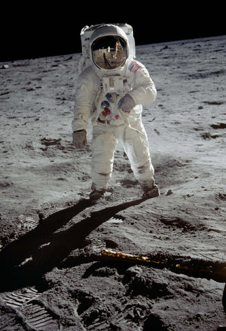 Aldrin on the Moon Fine Art Print
