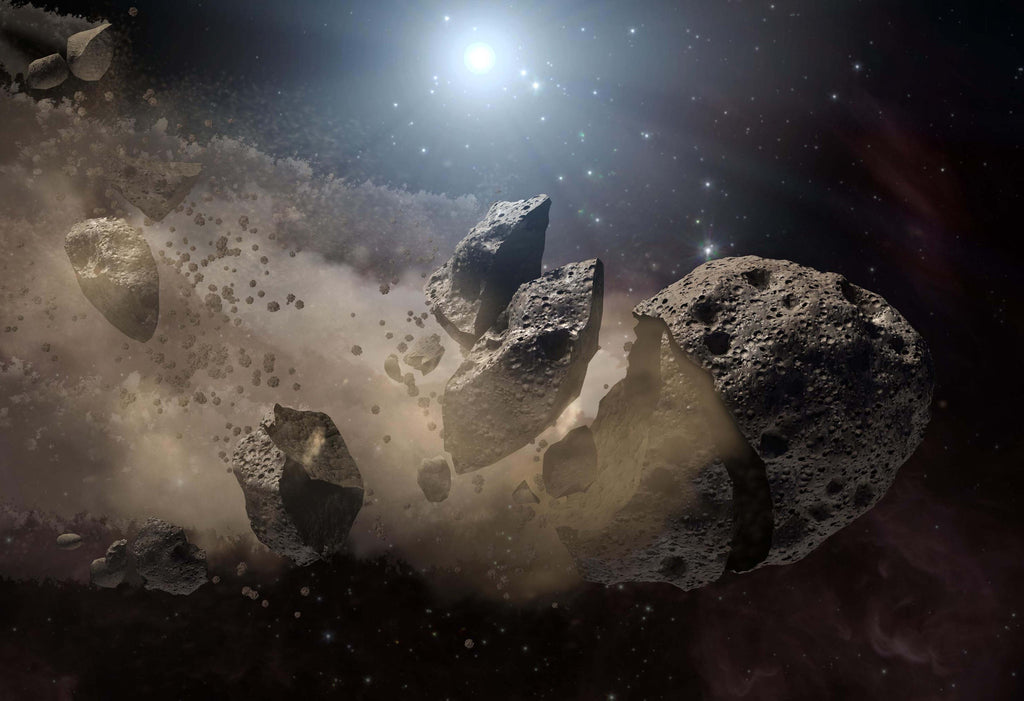 Asteroid Bites the Dust Artist's Concept