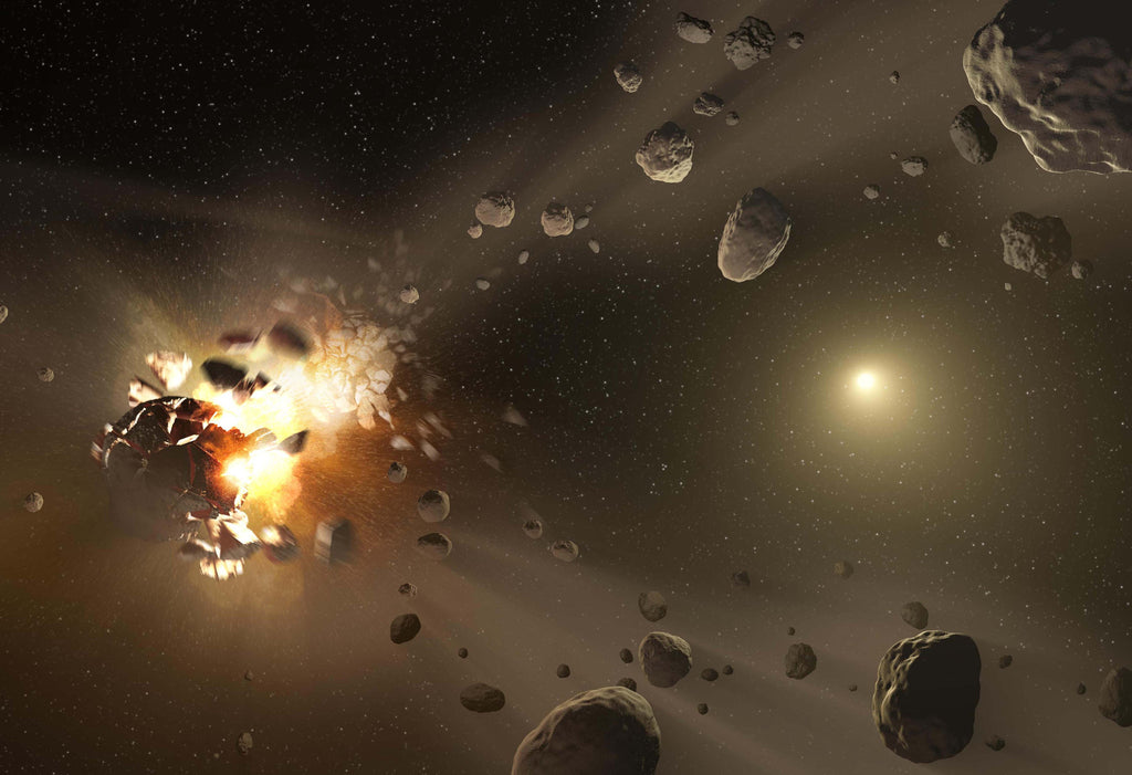 Asteroid Family's Shattered Past Artist's Concept Hi Gloss Space Poster