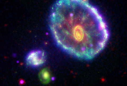 Cartwheel Galaxy Hi Gloss Space Poster Fine Art Print
