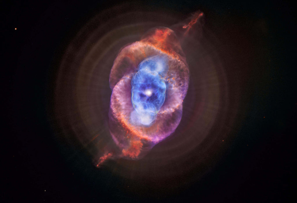 Cat's Eye Nebula Redux Hi Gloss Space Poster