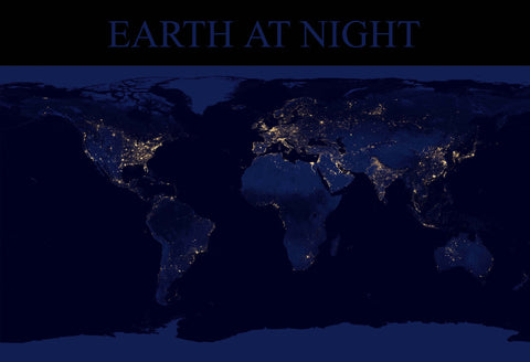 Earth at Night Fine Art Print