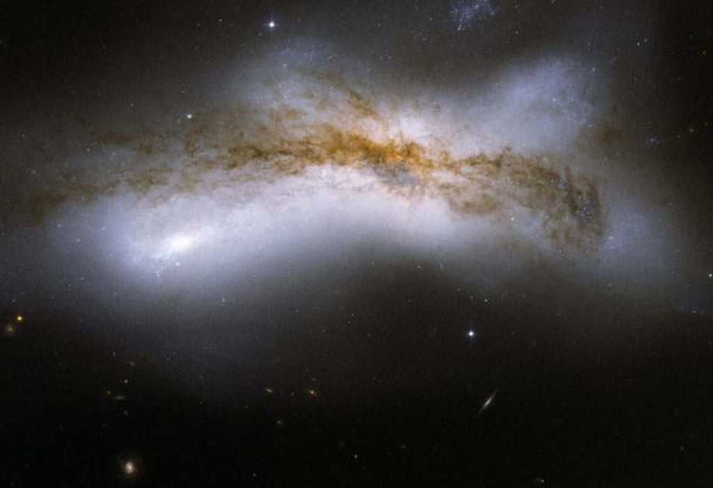 Galactic Collsions NGC 520 Hi Gloss Space Poster