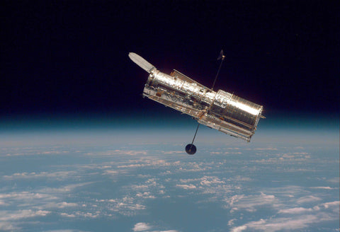 Hubble Space Telescope in Orbit Hi Gloss Space Poster Fine Art Print