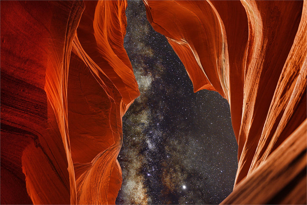 Milky Way Galaxy Antelope Canyon