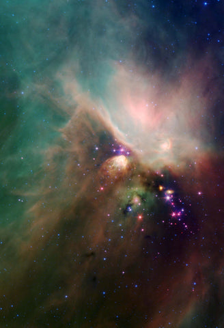 Space Poster of the Rho Ophiuchi Dark Cloud Fine Art Print