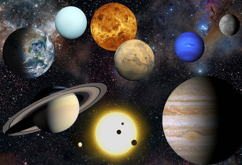 Solar System Large Planets Hi Gloss Space Poster Fine Art Print