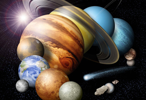 Solar System NASA Graphic Hi Gloss Space Poster Fine Art Print