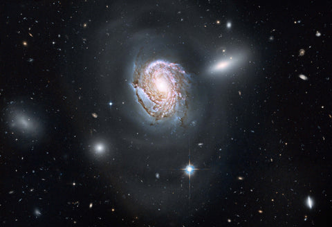 Spiral Galaxy NGC 4911 in the Coma Cluster Fine Art Print