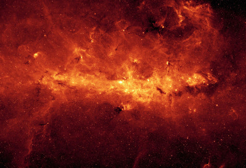 Space Poster of the Milky Way by the Spitzer Telescope Fine Art Print