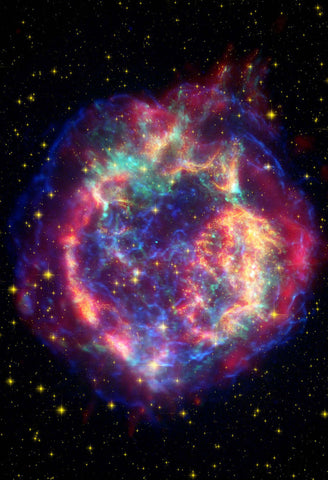 Space Poster of the Cassiopeia Supernova Fine Art Poster
