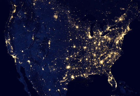 USA from Space Fine Art Print