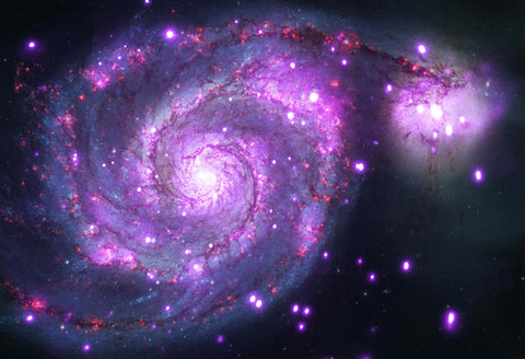 Whirlpool Galaxy Chandra X Ray Hi Gloss Space Poster Fine Art Print