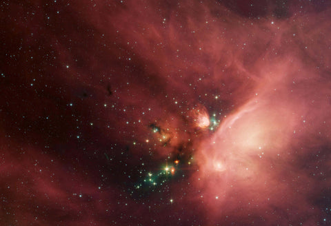 Young Stars in Blanket of Dust Fine Art Print