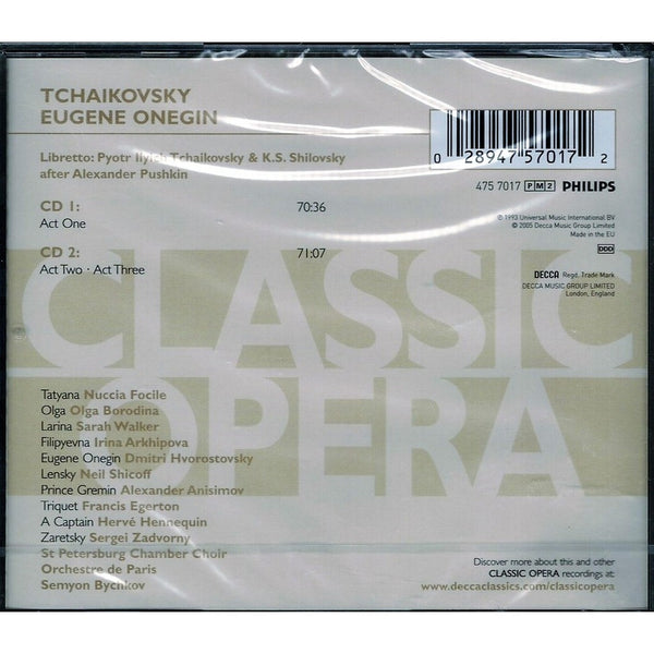 Eugene Onegin CD + Libretto