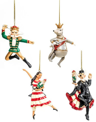 "<font color= ""blue""> -Online Only- </font>Nutcracker Ornament Set of 4"
