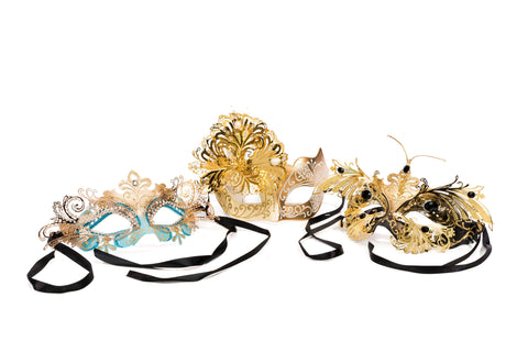 Metal Embellished masks