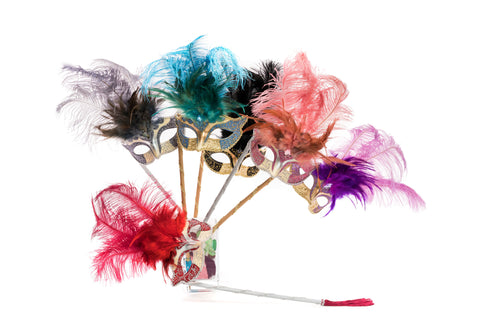 Hand-Held Feather Masks