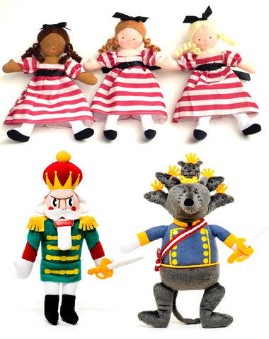 "<font color= ""blue""> -Online Only- </font>Nutcracker Plush Set of 3"