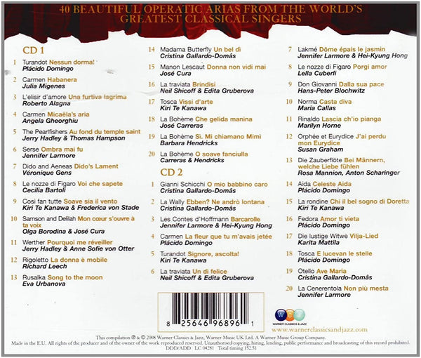 40 Most Beautiful Arias CD
