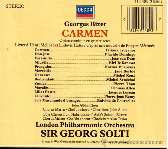 Carmen CD + Libretto