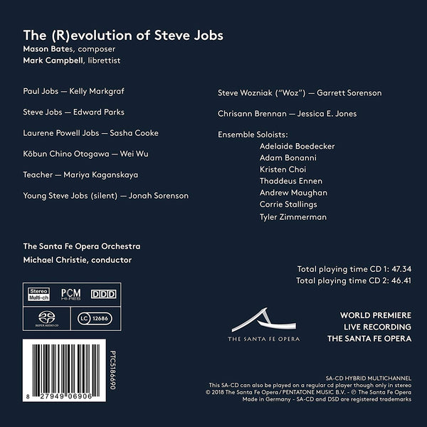 "<font color= ""blue"">Grammy Award Winning<br></font> The (R)evolution of Steve Jobs CD + libretto"