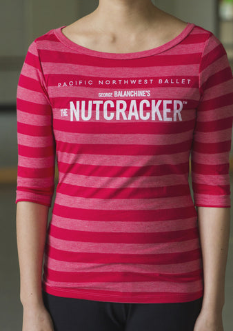 "<font color= ""red""> SALE </font> Nutcracker Red Stripe Women's T-Shirt"