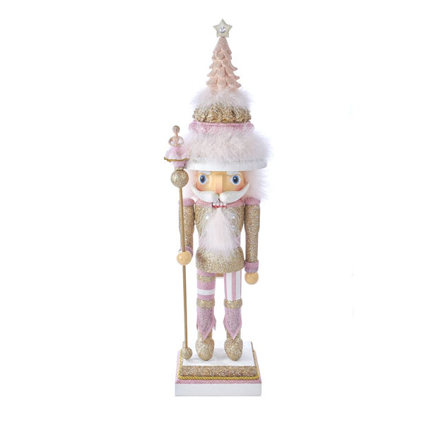 Giant Pink and Gold Ballerina Staff Nutcracker