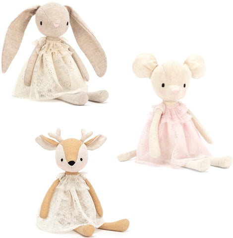 Jolie Tulle Plush Animals