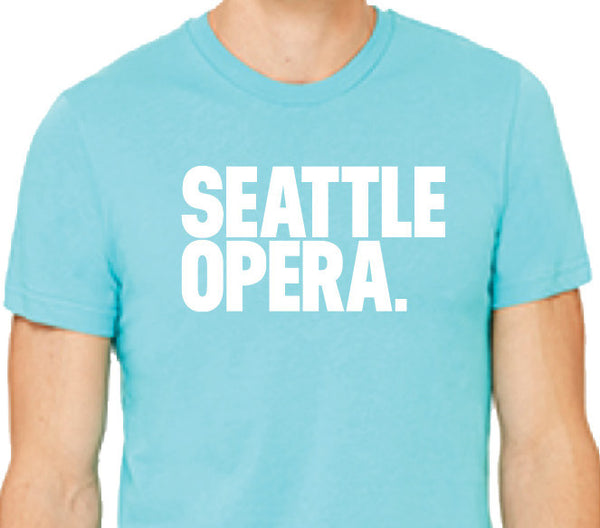 Seattle Opera Logo Unisex T-Shirt (Blue & Black)