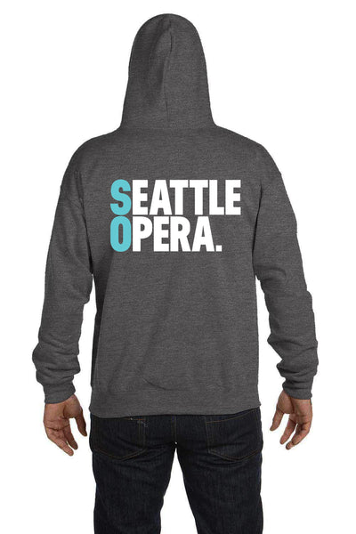 "<font color= ""blue"">-New-</font> Seattle Opera Logo Unisex Zip Sweatshirt"